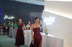 Shenzhen international brand clothing fair catwalk shows scene Stock Image