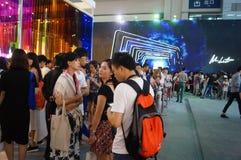 Shenzhen international brand clothing fair catwalk shows scene Royalty Free Stock Photo