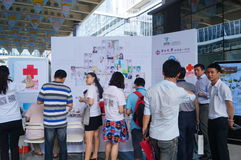 Shenzhen international creative activity week. In Shenzhen City, Nanshan hi tech Zone, city, the software industry base in Shenzhen Bay, held a business stock photo