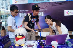 Shenzhen international creative activity week. In Shenzhen City, Nanshan hi tech Zone, city, the software industry base in Shenzhen Bay, held a business royalty free stock images