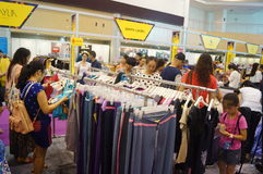 Shenzhen international famous brand clothing exhibition Royalty Free Stock Images