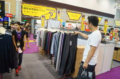 Shenzhen international famous brand clothing exhibition Stock Photo