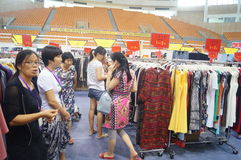 Shenzhen international famous brand clothing exhibition Royalty Free Stock Image