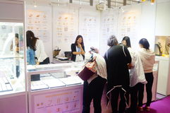 Shenzhen International Gold Jewellery Fair. The fourteenth Shenzhen international gold jewelry exhibition, held in Shenzhen Convention and Exhibition Center Stock Image