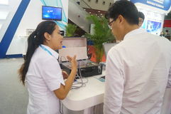 Shenzhen International Mobile Health Industry Expo Royalty Free Stock Photography
