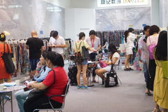 Shenzhen international textile fabrics and Textile Accessories Expo Stock Photography