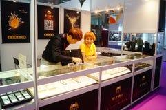 Shenzhen internationell guld- smyckenmässa Royaltyfri Fotografi