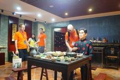 Shenzhen Kina: Äta middag landskapskulptur Fotografering för Bildbyråer