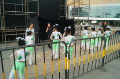 Shenzhen Kina: Barns popmusikfestival Royaltyfria Foton