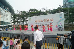 Shenzhen Kina: Barns popmusikfestival arkivbilder