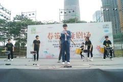 Shenzhen Kina: Barns popmusikfestival Arkivfoto