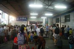 Shenzhen Kina: drevstation Arkivfoton