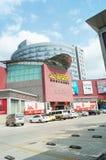 Shenzhen Kina: För byggnadsmaterial för hem- inredning marknad royaltyfri fotografi