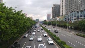 Shenzhen Kina: För vägbil för 107 medborgare landskap Royaltyfri Foto