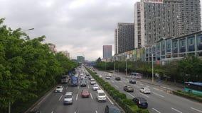 Shenzhen Kina: För vägbil för 107 medborgare landskap Royaltyfria Bilder