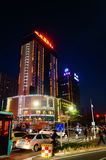Shenzhen Kina: gatanattlandskap Arkivbilder