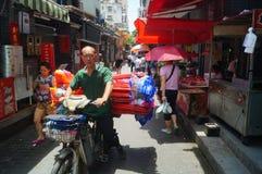 Shenzhen Kina: gatorna av den forntida staden av det Nantou landskapet Royaltyfria Bilder