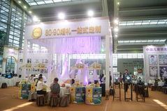Shenzhen Kina: Hem- inredning levererar utställning royaltyfri fotografi