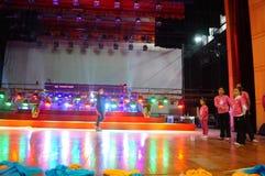 Shenzhen Kina: Inre landskap för teater Fotografering för Bildbyråer