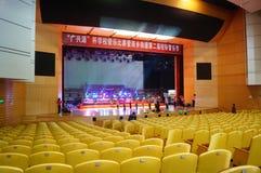 Shenzhen Kina: Inre landskap för teater Arkivfoton