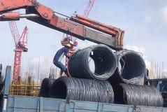 Shenzhen Kina: konstruktionsplatsen av tornkranen Arkivbilder