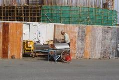 Shenzhen Kina: konstruktionsplatsen av tornkranen Royaltyfri Bild