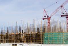 Shenzhen Kina: konstruktionsplatsen av tornkranen Arkivbild
