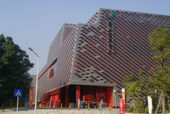 Shenzhen Kina: Kulturella Nanshan och sportmitt royaltyfria foton