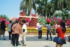 Shenzhen Kina: Lotus Hill parkerar landskap Royaltyfri Fotografi