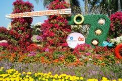 Shenzhen Kina: Lotus Hill parkerar landskap Arkivfoto