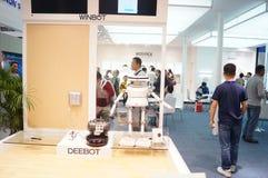 Shenzhen Kina: Mässa för hög Tech Arkivfoton