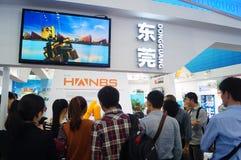 Shenzhen Kina: Mässa för hög Tech Fotografering för Bildbyråer