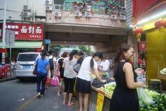 Shenzhen Kina: Marknadslandskap Royaltyfri Fotografi
