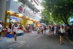 Shenzhen Kina: Marknadslandskap Arkivfoto