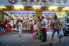 Shenzhen Kina: Marknadslandskap Arkivbilder