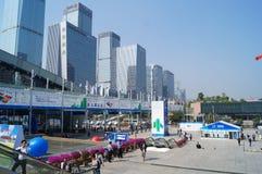 Shenzhen Kina: Mässa för hög Tech Royaltyfria Bilder
