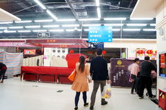 Shenzhen Kina: Nyårsaftonen shoppar stängt tidigt Arkivbilder