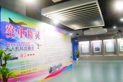 Shenzhen Kina: Obemannad flyg- medelutställning Arkivbild