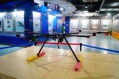 Shenzhen Kina: Obemannad flyg- medelutställning Fotografering för Bildbyråer