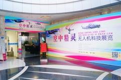 Shenzhen Kina: Obemannad flyg- medelutställning Royaltyfri Foto