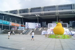 Shenzhen Kina: shenzhen regel och landskap för fyrkant för utställningmitt Fotografering för Bildbyråer