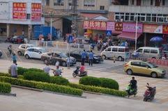 Shenzhen Kina: skolaingångslandskap Arkivfoton