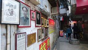 Shenzhen Kina: Skyddsremsagravyr- och målningaffär arkivfoto