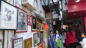 Shenzhen Kina: Skyddsremsagravyr- och målningaffär royaltyfri fotografi