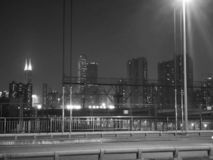 Shenzhen Kina, stadsnattplats arkivbilder