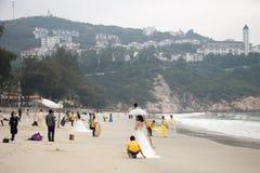 SHENZHEN KINA, 2011-11-26: Talrika kinespar i bröllop Royaltyfria Foton