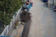 Shenzhen Kina: trottoarkonstruktion Royaltyfri Fotografi