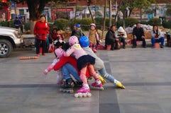 Shenzhen Kina: utomhus- åka skridskor Royaltyfria Foton