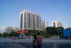Shenzhen Kina: villkor för stadsvägtrafik Arkivfoton