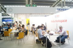 Shenzhen konwencja i Powystawowy centrum dyskutować miejsce odpoczynek fotografia royalty free